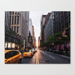 Manhattanhenge, 2018.05.30 Canvas Print