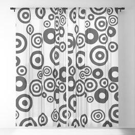 Circular Zone Sheer Curtain