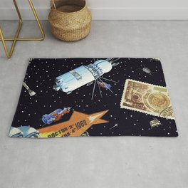 Gagarin space art #5 Rug