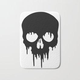 Black Skull dripping Bath Mat