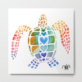 Hug a Sea Turtle Metal Print