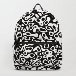 Abstract fractal black marbleized psychedelic plasma Backpack