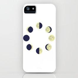 lunar cycle (transparent) iPhone Case