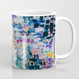 TOWANDA TAKES THE CITY // ABSTRACT MIXED MEDIA ON CANVAS Coffee Mug