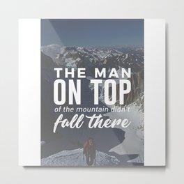 Climbing To The Top Climbers Peak Winners Metal Print