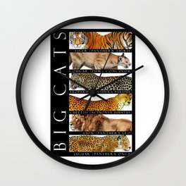 Big Cats of the World Wall Clock