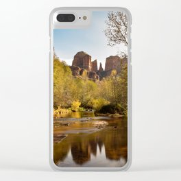 Red Rock Reflections Clear iPhone Case