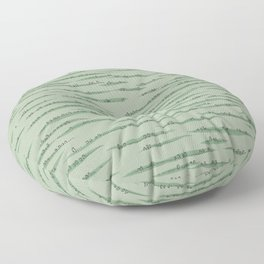 Map Collection: Countryside Floor Pillow