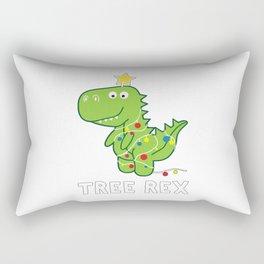 Dinosaur Tree Rex Xmas Rectangular Pillow