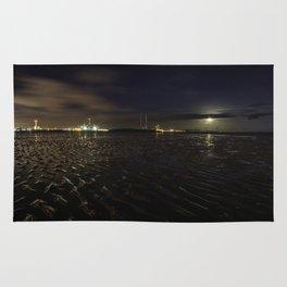 Sandymount Strand at Night Rug