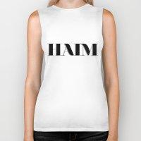 haim Biker Tanks featuring haim - shadowed by darknightdrive