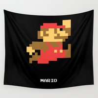 video game Wall Tapestries featuring Lab No.4 -Mario Video Game Quotes,Poster by Lab No. 4