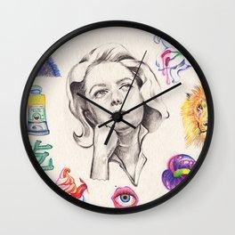 gosmas e lírios Wall Clock
