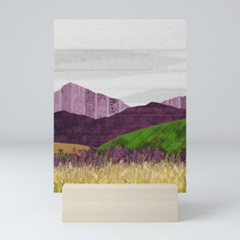 Purple Hills Mini Art Print