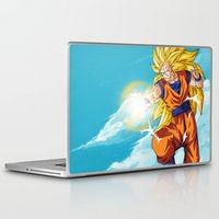 goku Laptop & iPad Skins featuring Goku SS3 by WaXaVeJu