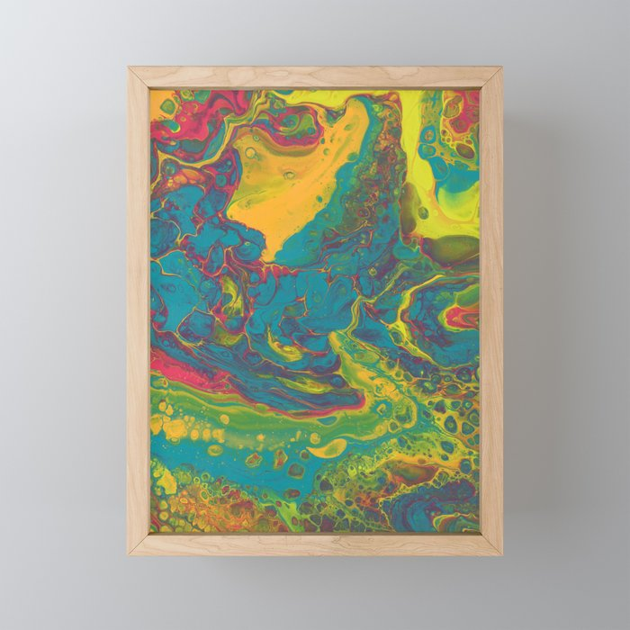 Put Your Hands in the Air Framed Mini Art Print