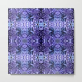 Abstract Purple and Blue Pattern 606 Metal Print