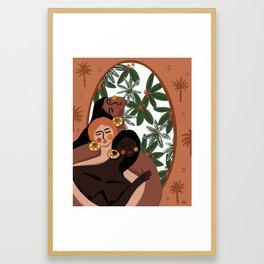 Cabana girls Framed Art Print