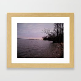 a cold wintery am on james river Framed Art Print