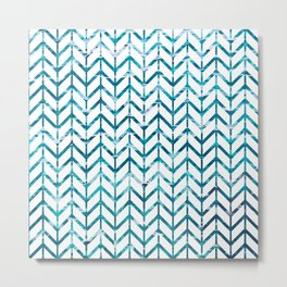 Watercolor Chevron Metal Print