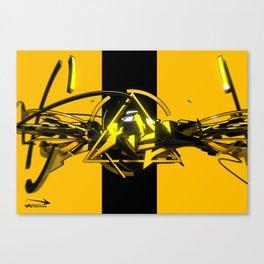 3d graffiti - 'scapes Canvas Print
