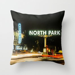 North Park (San Diego) Sign - SD Signs Series #1 Throw Pillow