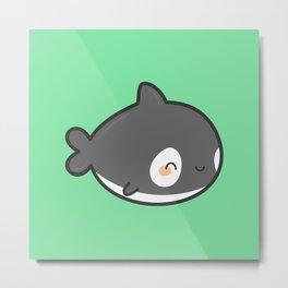 Cute killer whale Metal Print