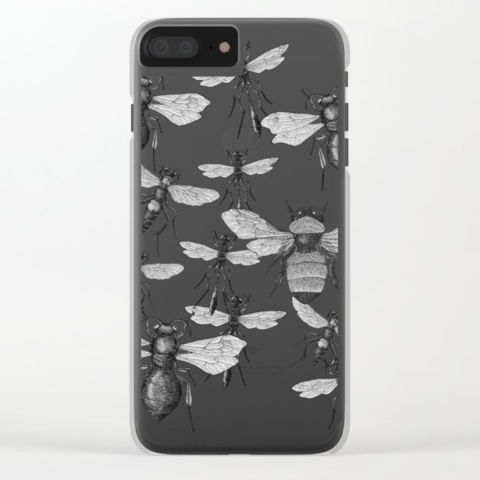 Bees and wasp Flying Clear iPhone Case