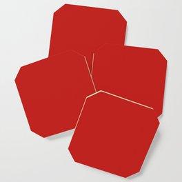 Dark Solid Chilli Pepper Red Color Coaster