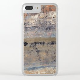 Grimy Water... Tarnished Wall Clear iPhone Case