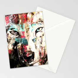Silverwolf, wolf, painting, wolfpack. Stationery Cards