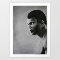 ali gulec Art Prints featuring Ali by pat langton