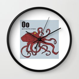 Giant Pacific Octopus Wall Clock