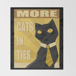 Cats in Ties - PSA Throw Blanket