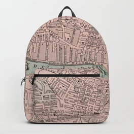 Vintage Map of Glasgow Scotland (1901) Backpack