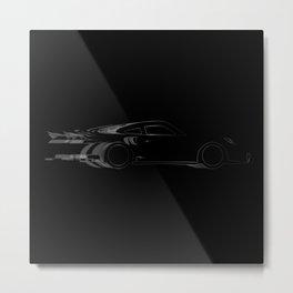 Dark Fast Car Metal Print