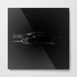 Dark Fast Car Metal Print
