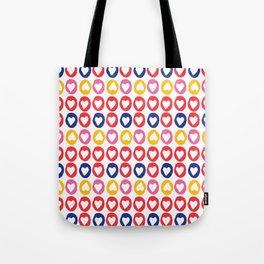 Hearts stripes Tote Bag
