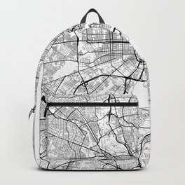 Baltimore Map White Backpack