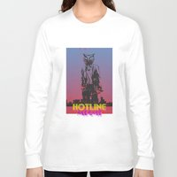 hotline miami Long Sleeve T-shirts featuring HOTLINE MIAMI by Bertrand Nadal