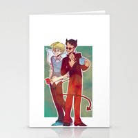 good omens Stationery Cards featuring Good Omens by Brizy Eckert