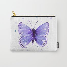 Purple Violet Abstract Butterfly Carry-All Pouch