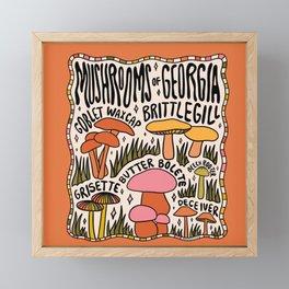 Mushrooms of Georgia Framed Mini Art Print