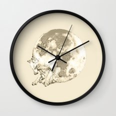 In which a wolfy moon thing happens Wall Clock