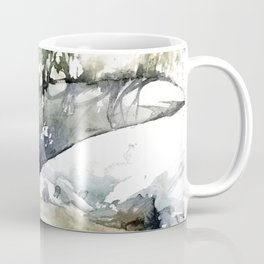Frozen forest's river Coffee Mug