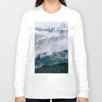 vietnam Long Sleeve T-shirts featuring Foggy Mountain of Sa Pa in VIETNAM by CAPTAINSILVA
