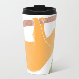 Sleepy Happy Sloth Travel Mug