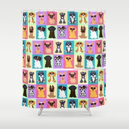 Doggi Breeds summer by Diseños que ladran Shower Curtain
