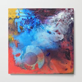 Havoc, abstract organic painting, NYC Artist Metal Print