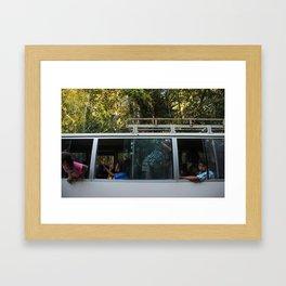 Bus Hooligans Framed Art Print